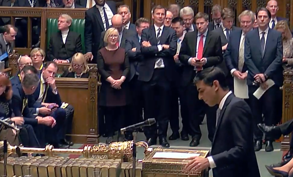 Chancellor of the Exchequer Rishi Sunak announces Immigration Health Surcharge